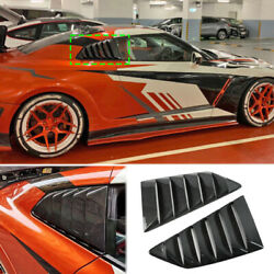 For Nissan Gt-r R35 09-21 Real Carbon Fiber Rear Louvers Side Window Cover Trim