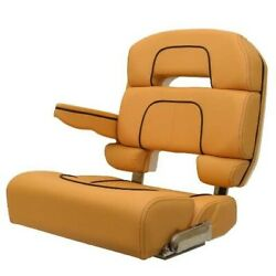 Scout Boat Captains Helm Seat Uh1472 | Taco Bolster Butterscotch Brown