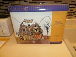 Dept 56 Animated Lighted Haunted Carnival Fun House Halloween Snow Village