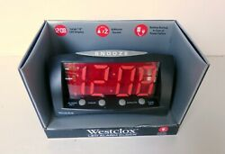 Westclox LED Alarm Clock Large 1.8quot; Red Display 66705 New