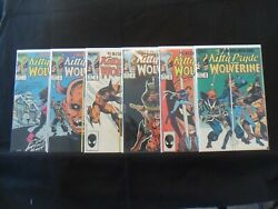 1984 Kitty Pryde And Wolverine Complete Set Of 6 Comics 1-2-3-4-5-6 L@@k Nm
