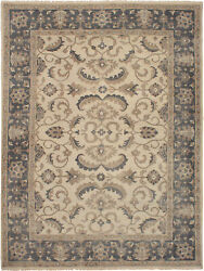 Hand-knotted Transitional Carpet 9'2 X 12'1 Area Rug In Cream