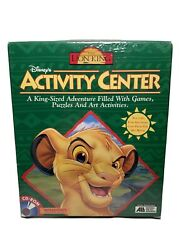 Disneyand039s The Lion King Activity Center Cd Rom Game Win/mac-new Unopened Vintage