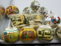 11 Satin Old Ornaments Country Kids Primitive Christmas 34