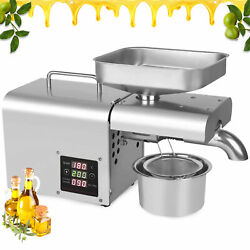 110v 610w Automatic Nuts Seed Oil Press Machine High Quality 304 Stainless Steel