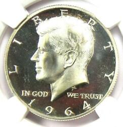 1964 Proof Accented Hair Kennedy Half Dollar 50c - Ngc Pr67 Cameo - 575 Value