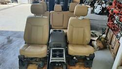 2011-2016 Ford F250 F350 Super Duty Front/rear Leather Seat Set W/bag, W/console