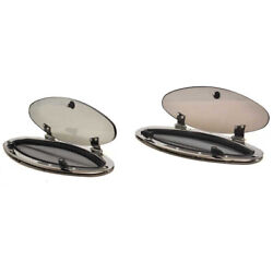 Taylor Made Boat Port Window 588901460 | Elliptical 16 Inch Pair