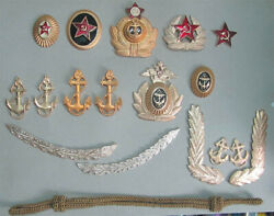 Soviet Army And Soviet Navy Badges For Hats And Uniform