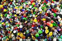 Vintage Glass Buttons 7000 Pieces, Size - 9mm, 13mm, 18mm, 23mm, 32mm - 3