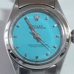 Rolex Oyster Perpetual Ladies 26 Mm Color Dial Watch 6618 Circa 1970