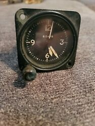 Us Navy An5743-l2 Waltham 11 Jewel A-11 Aircraft Clock Yellow Numbers And Hands