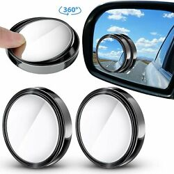 2Pcs Blind Spot Mirrors HD 360° Wide Angle Convex Rear Side View Universal