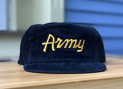 Nwot Vintage Army Sports Specialties Corduroy Hat The Cord Script