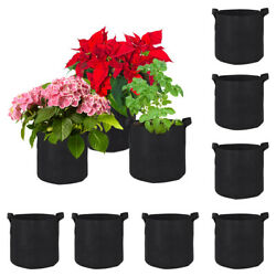 10/20pack Fabric Grow Pots Plant Aeration Bags Root Container 10 15 20 35 Gallon