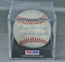 1953 Yankees Signed Ball Psa Authentic Mantle Ford Berra Mize Rizzuto +11