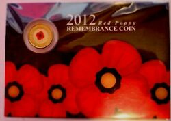 Australia 2012 2 Remembrance Day Red Poppy Card Rare No Mintmark Coin Pack