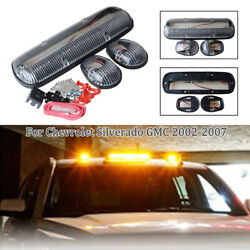 3pc Clear 264155bk Amber 30led Cab Roof Running Marker Lights Car Truck Off Road