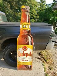 Rare Vintage Hudepohl Beer Advertising Sign. 1950and039s