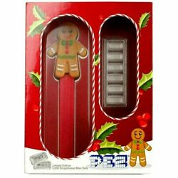 2020 Pez® Gift Set Gingerbread Dispenser And 6x5g/30 Gram Silver Wafers 4000 Made