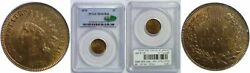 1876 Indian Head Cent Pcgs Ms-65 Rb Cac