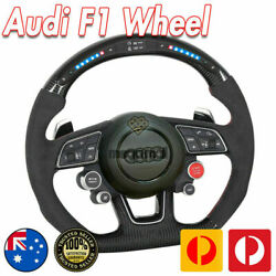 Carbon Fiber Led Shift Light Steering Wheel For Audi Rs S A8 A7 A6 A5 A4 A3 A2