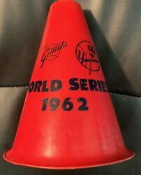 Vintage Rare 1962 Sf Giants/ny Yankees World Series Red Megaphone Free Shipping