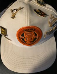 Vintage 1989 Nl West Champions San Francisco Giants Cap+ 20 Pins Free Shipping
