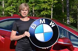 Old Style Bmw Series X M I3 I8 Roadster Car Thick Steel Badge Sign Made In Usa