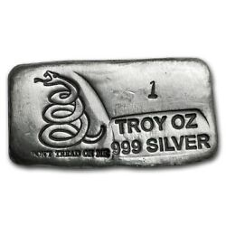 😃donand039t Tread On Me Snake Mini Loaf 1 Oz 999 Silver Bar Sealed - Hard To Find