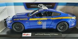 1/18 Police 2015 Ford Mustang Gt State Trooper Maisto Diecast Brand New Porshe
