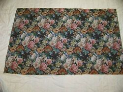 Vintage Tapestry Upholstery fabric 38quot; x 58quot; Floral print Never Used