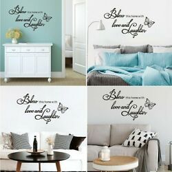 Art Word Family Removable Wall Stickers PVC Mural Home Bedroom Living Room Decal