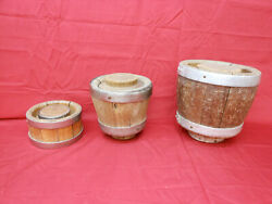 Unique Antique Wooden German Banded Cheese Mold Press Strainers