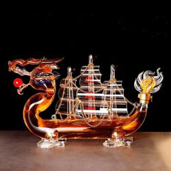 Whiskey Wine Creative Dragon Boat Style Decanter Bar Bottle Christmas Gift New