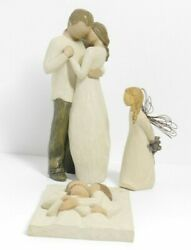 Lot Willow Tree Promise Family Thank You Figurines Angel Susan Lordi
