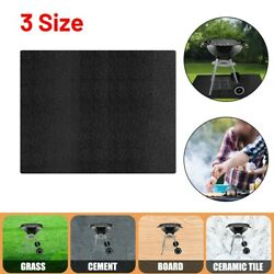 Bbq Grill Mat Waterproof Barbecue Cover Garden Lawn Living Oilproof Outdoor
