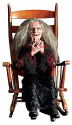 Halloween Life Size Animated Laughing Witch Hag Prop Decoration Animatronic