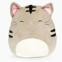 Squishmallow 16 Tally The Tabby Cat Plush Toy, Super Pillow Soft Plush Animal