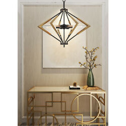 Cal Lighting And Accessories Fx-3709-6 Malounta Chandelier Antique Brass And Black