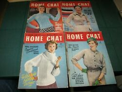 Home Chat Magazine 4 Issues - 3280,3281,3282,3283 February 1958 Vintage Sewing