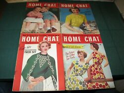 Home Chat Magazine 4 Issues - 3284,3286,3287,3288 March 1958 Vintage Sewing
