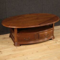 Living Room Coffee Table Extendable Furniture Vintage Oval 2 Drawers 900