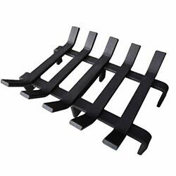 Log Grate Heavy Duty Solid Steel Burning Fireplace Wood Stove Firewood Holder