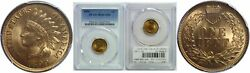 1899 Indian Head Cent Pcgs Ms-66+ Rd