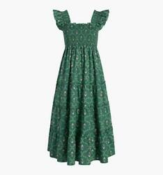 Hill House Home Ellie Nap Dress Emerald Trellis Green Xsmall Xs Never Opened Nwt