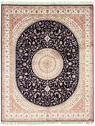 Hand-knotted Carpet 8'0 X 10'0 300l Silk Traditional Silk Rug