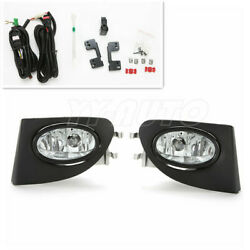 Clear Fog Lights With Bezel Switch Wire Ep3 For 2002-2005 Civic Si Hatchback 3dr