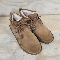 Ugg Menandrsquos 3236 Suede Round Toe Lace Up Ankle Tan Chukka Boot Men Size 10