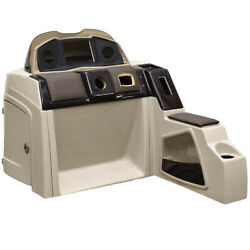 Pontoon Boat Steering Console 180695-02 | 51 1/4 Inch Beige Scratches